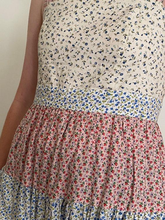 Patchwork Floral Maxi Dress - image 2