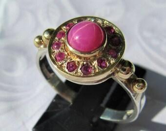 Star Ruby Ring, Star Ruby, Star Ruby Ladies Ring, Silver Star Ruby Ring, Gold Star Ruby Ring, Star Ruby Jewelry, Ruby Ring, Ladies Ruby Ring