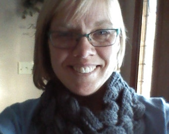 Braided Crocheted Cowl With Button