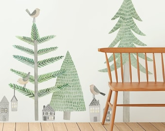 Spruce Forest Kit - Regular - Fabric Wall Decal - Evergreen - Mej Mej