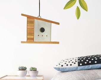 Birdhouse Add On Kit - House 4 - Fabric Wall Decal - Feather - Mej Mej