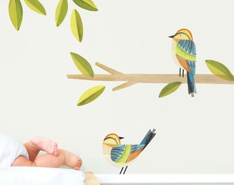 Rainbow Bee-Eater - Fabric Wall Decal - Feather - Mej Mej
