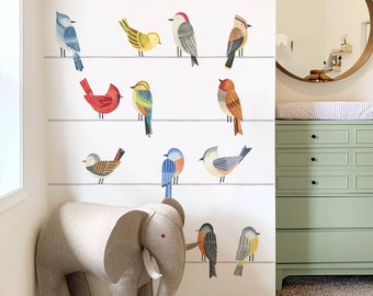Birds On A Wire Kit - Fabric Wall Decal - Feather - Mej Mej