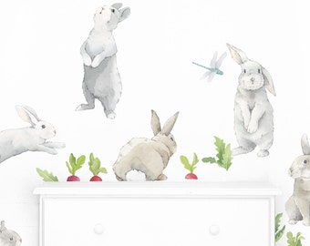 bunny rabbit Wall stickers Bunnies Wall Decals