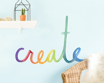 Create - Fabric Wall Decal - Color Story - Mej Mej