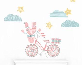 Bicycle Fabric Wall Decal - Mej Mej