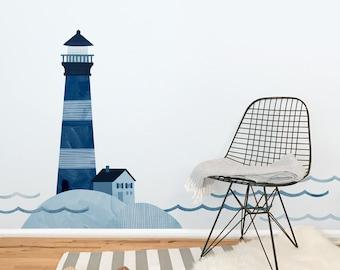 Lighthouse - Fabric Wall Decal - Sag Harbor - Mej Mej