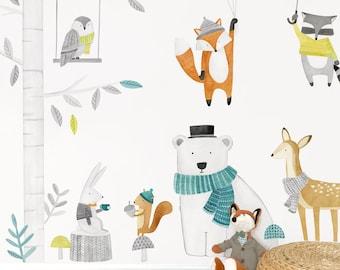 Woodland Kit - Fabric Wall Decal - Woodland - Mej Mej