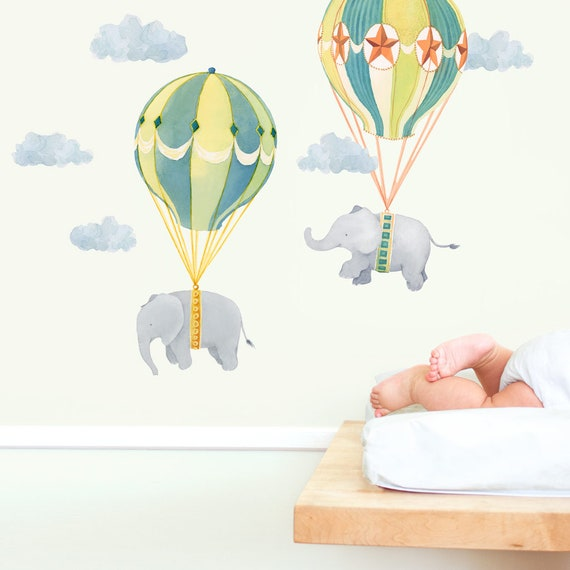 Fliegende Freunde Stoff Wand Aufkleber Kinderzimmer | Etsy
