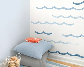 Extra Waves - Fabric Wall Decal - Sag Harbor - Mej Mej