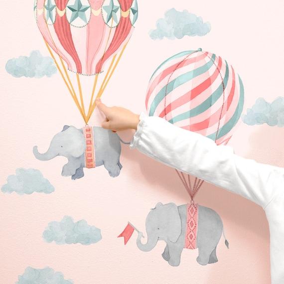 Elefant Freunde Pink Stoff Wand Aufkleber Kinderzimmer | Etsy