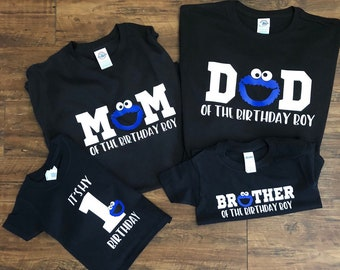 Cookie Monster Family Birthday Group Shirts