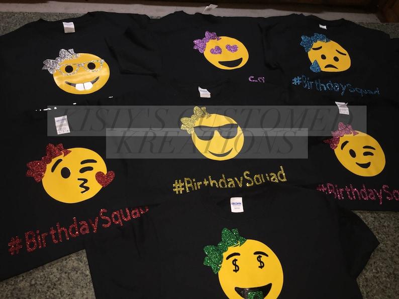 Emoji Birthday Group Shirts Squad
