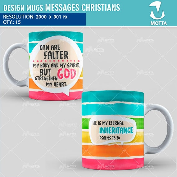 christian message for sublimation mug proverbs frases etsy