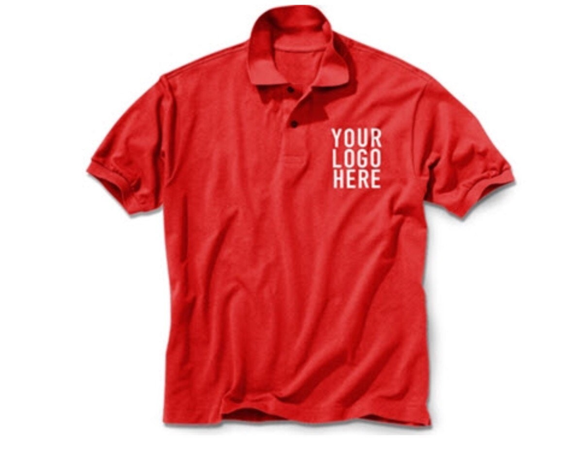 Custom Embroidery Polo One Color Design Up To 3 Lines And A Etsy