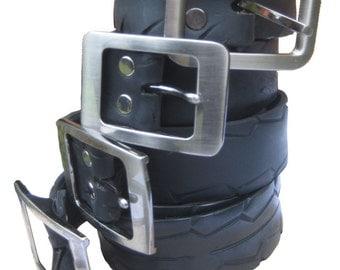 Motorbike Tyre Belt, Vegan Belt, Bikers Belt, Tyre Belt