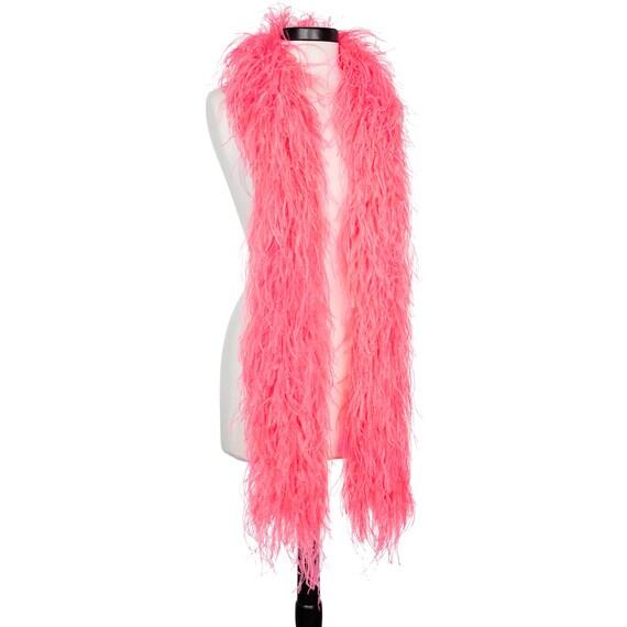 a019e0bb46d5 Rose fluo 4 plis Ultra autruche Boas de plumes - foulard - 6 pieds de Long  - bal - Halloween ...