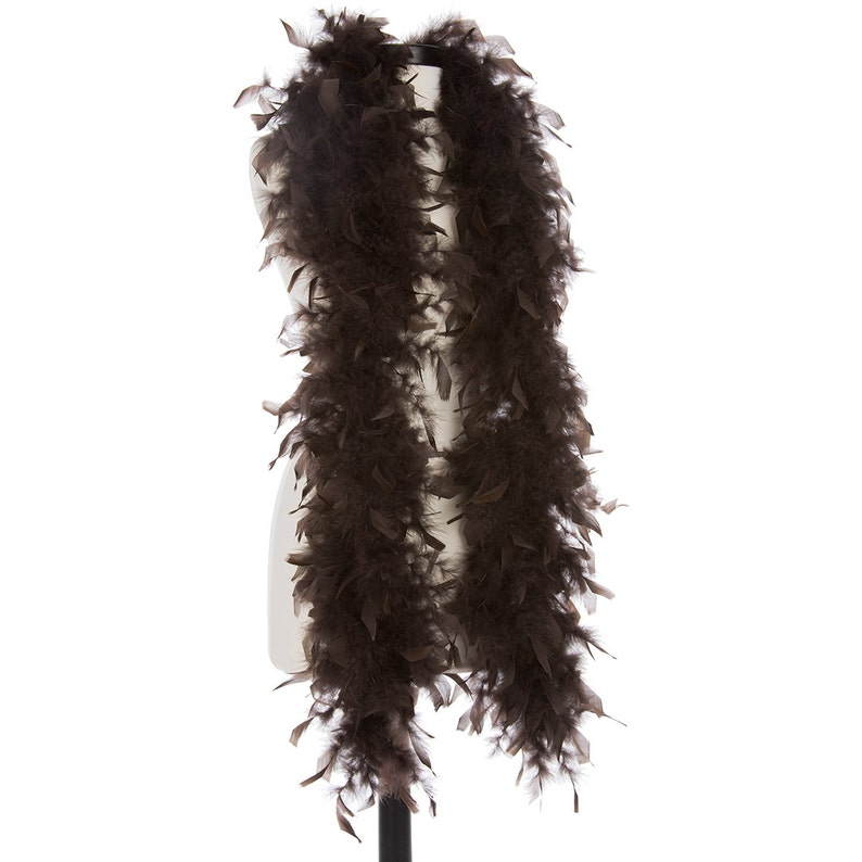 Brown 40 Gram Chandelle Feather Boas