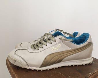 Vintage women s leather puma tennis shoes size 8.5 7e0a20d52
