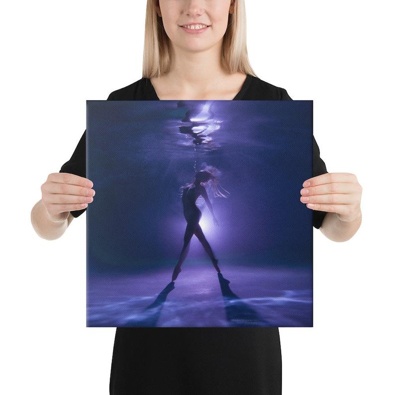 Hannah Mermaid Canvas Print Purple Tip Toes