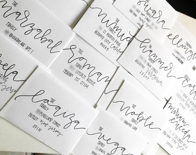 Address Lettering on Wedding or Event Envelopes