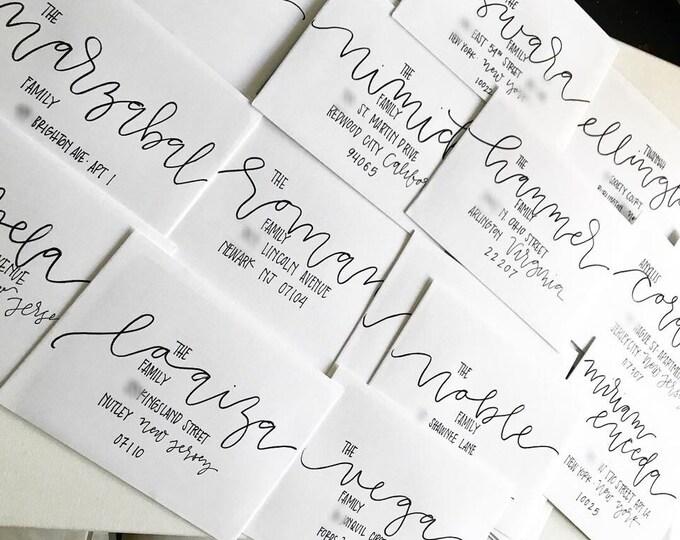 Address Lettering on Wedding or Event Envelopes