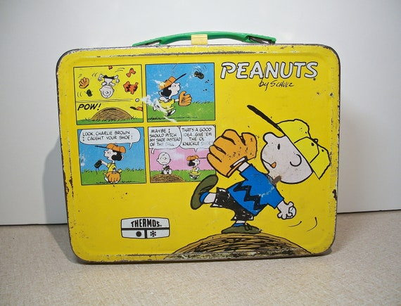 Peanuts Lunch Box! Charles Schulz, 1965, Snoopy, C