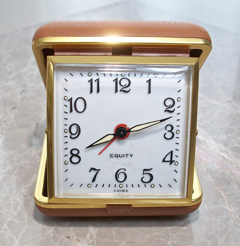 Wind Up Travel Alarm Clock Compact Folding Design Equity Etsy