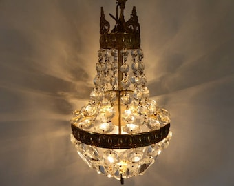 Montgolfier etsy montgolfier chandelier vintage french lighting crystal drops and prisms 0218029 543 aloadofball Choice Image