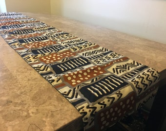 African Print TABLE RUNNER ... Wax Print / Batik ... Table Linens Made In  Ghana ... African Home Decor