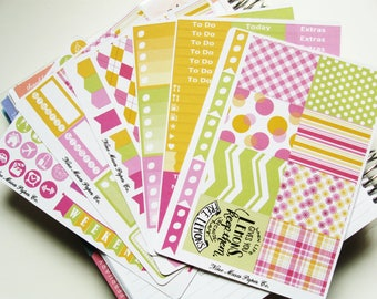 Planner Stickers - Raspberry Lemonade