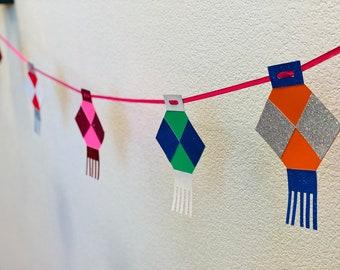 Toran Diwali DIY Craft Kit - 5 Colorful Lanterns