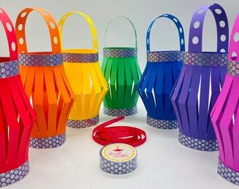 Diwali Rainbow Lantern DIY craft Kit | Diwali Festival Decoration | Toran | Makes 7 lanterns