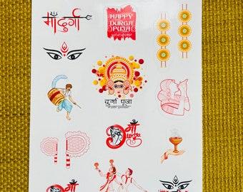 Durga Puja Sticker | Dassehra | Kolkata | Shubh Bijoya | Maa Durga