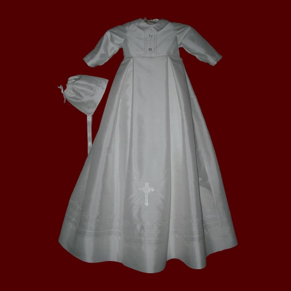 e6e3aa4c1 The Embroidered Hail Mary Prayer Christening Gown For Boys