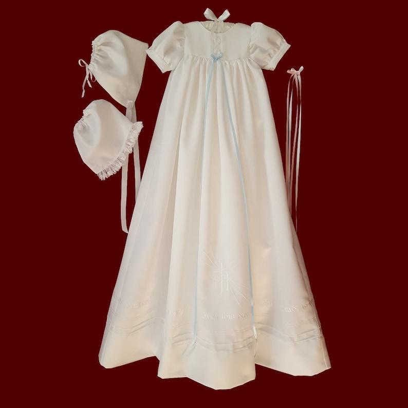 95d40dacf Guardian Angel Unisex Christening Gown Slip   Boy Girl Hat