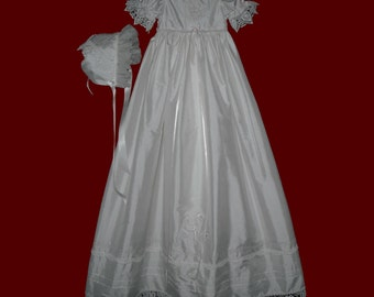 The Embroidered Hail Mary Prayer Christening Gown for Girls