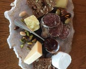 Petrified Wood Plates Serving Platters  Display Piece Cheese Board 20 Million Years Old!