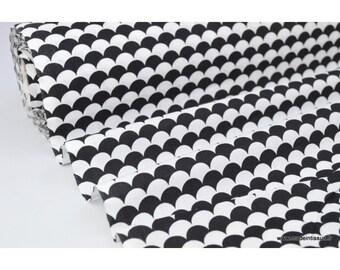 Printed cotton fabric design .x1m black scales