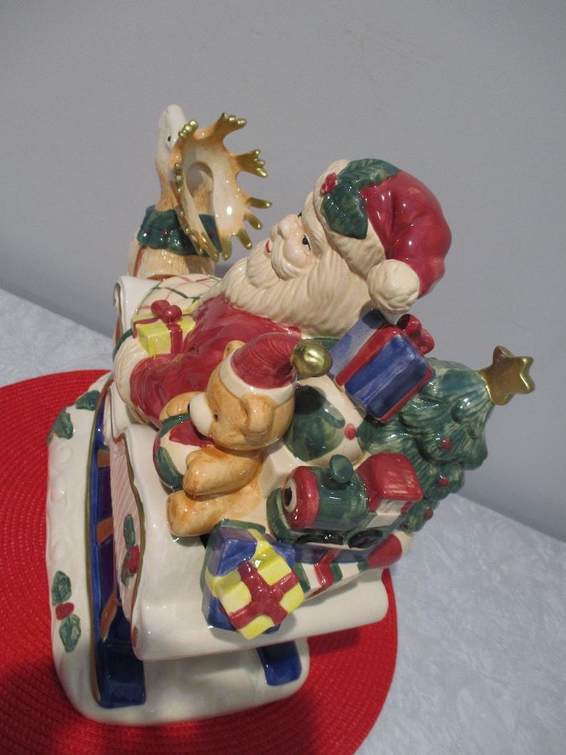 Fitz and Floyd 1993 Omnibus Santa Cookie Jar