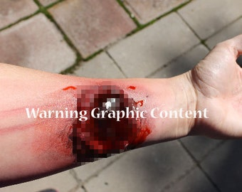 Latex wound. Easy to apply make-up. Zombie Comic-Con