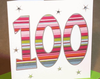 100th Birthday Card Jewelled