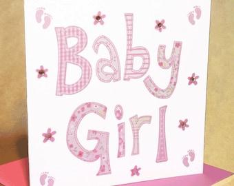 Baby Girl Card  (jewelled)