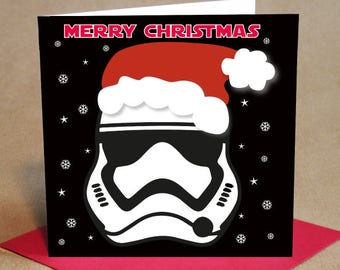 Christmas Card Pack -Stormtrooper style design, Small (Pack Of 6)