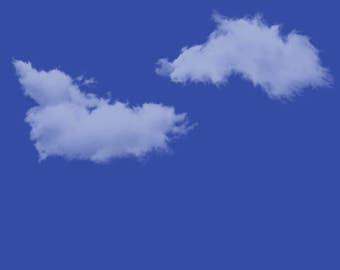 Blue Cloud Sky Background DIGITAL FILE