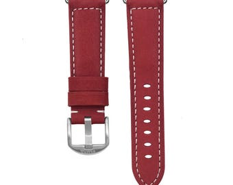Wine Leather Apple Watch Strap