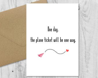 Long Distance Relationship Handmade Card O LDR Boyfriend Girlfriend Birthday Anniversary Valentines