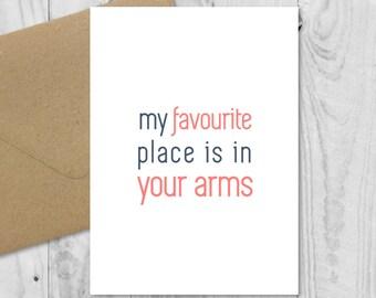 Long Distance Relationship Handmade Card LDR Boyfriend