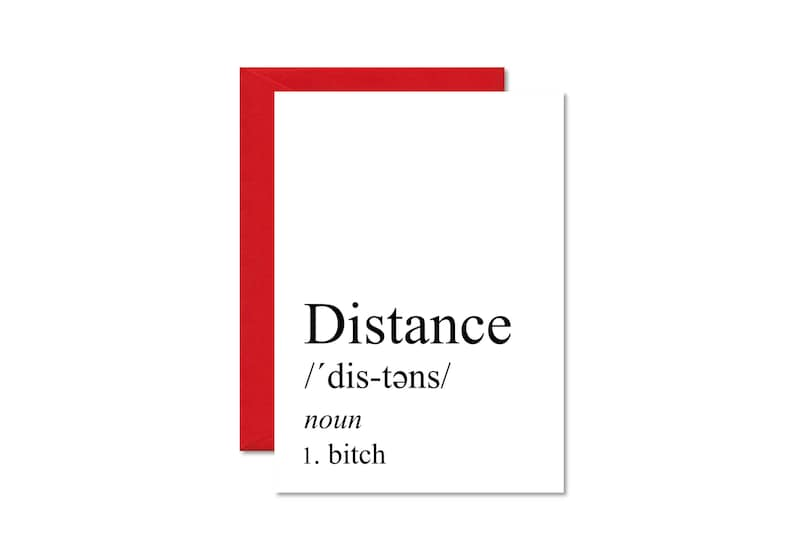 Long Distance Relationship Definition Card Boyfriend