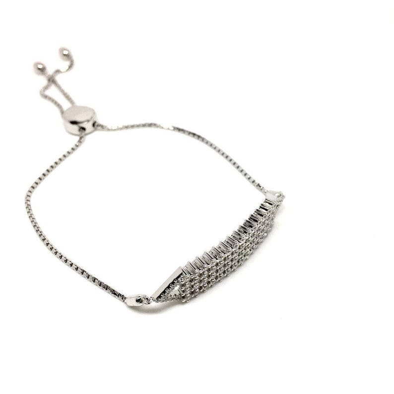 Italian jewellery Birthday gifts and special occasions Gift Box included Women/'s jewellery 925 Sterling Silver Cubic Zirconia Bracelet